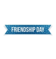 Friendship Day textile blue Ribbon vector image