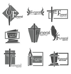funeral agency to take care of all burial vector image