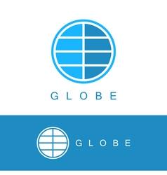 Globe logo template vector