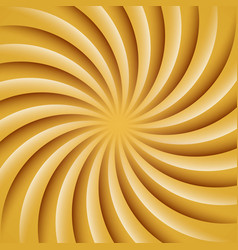 Gold and white rotating hypnosis spiral twirl vector