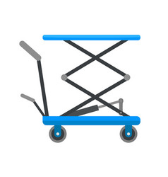 Hydraulic lift cart icon flat style vector