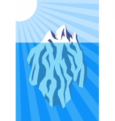 iceberg poster vector image