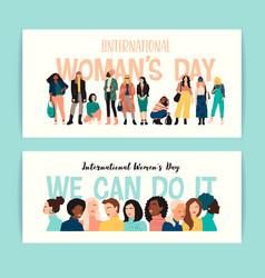 International womens day of vector