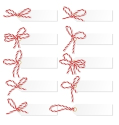 Label set with bakers twine bows vector