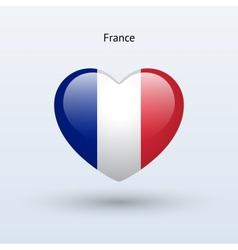 Love France symbol Heart flag icon vector