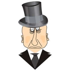 Man in hat vector