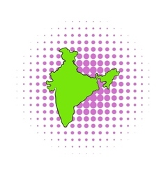 map india icon comics style vector image