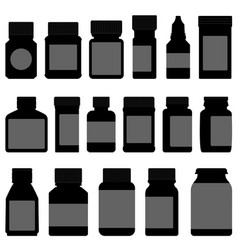 medicine storage container bottle a set of vector image