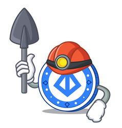 miner loopring coin mascot cartoon vector image
