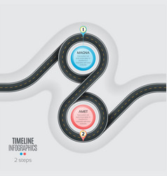 Navigation map infographic 2 steps timeline vector