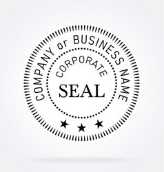Official corporate seal vector