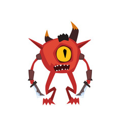 One eyed warrior monster fantasy magical creature vector
