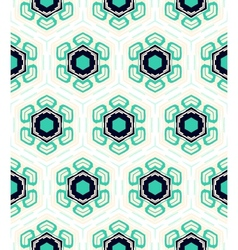 Pattern with stylized flowers in 1950s style vector image