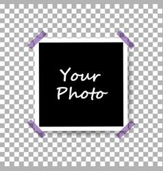 Photo frame mockup design icon eps 10 vector