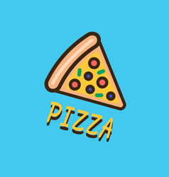 pizza logotype template vector image