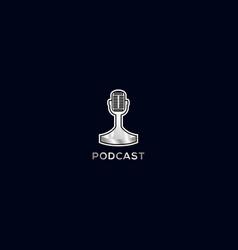 Podcast logo design vector