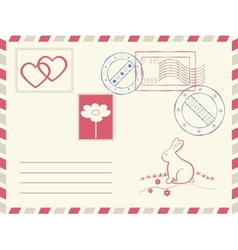 Postage elements set vector image