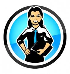 Saleswoman vector