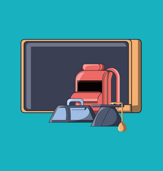 school objects design vector image