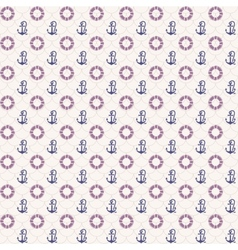 Seamless patterns anchors and lifebuoy vector image