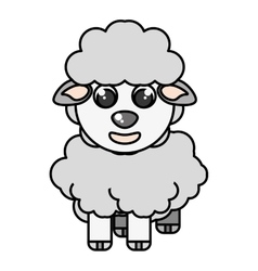 Sheep animal farm isolated icon vector