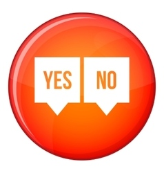Signs of yes and no icon flat style vector