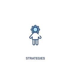 Strategies concept 2 colored icon simple line vector
