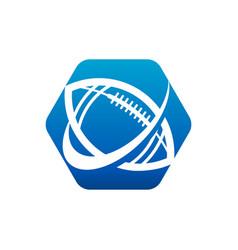 swoosh american football logo icon vector image