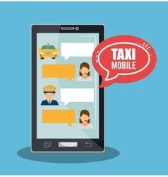 Taxi service call center driver bubble speech vector