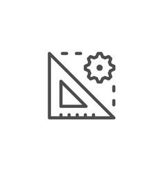 Technical measurement line icon vector