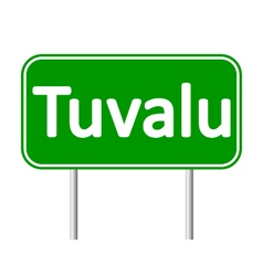 Tuvalu road sign vector