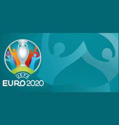 Uefa euro 2020 official logo isolated on blue vector