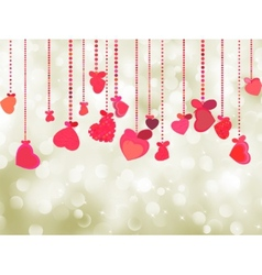 Valentine background of holiday lights EPS 8 vector