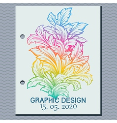 Vintage leaf design element vector