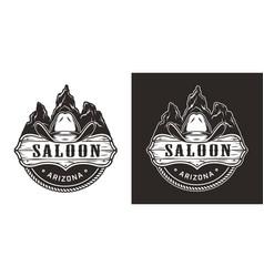 vintage wild west monochrome emblem vector image