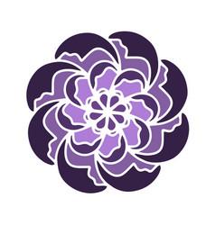violet russian culture flower shape vector image