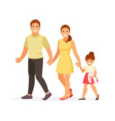 walking family vector image