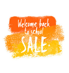 Welcome back to school sale banner vector