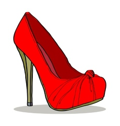 Womens seductive shoes vector image