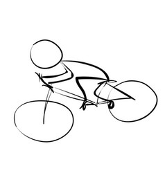 cyclist in traffic icon vector image