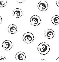 euro coins money seamless pattern background icon vector image