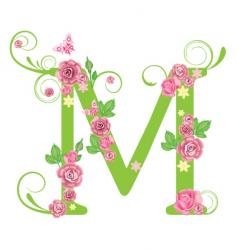 floral typography vector image vector image