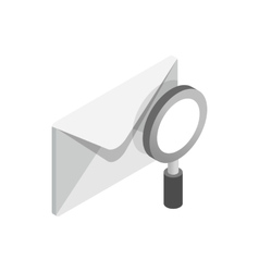 Search email icon isometric 3d style vector image vector image