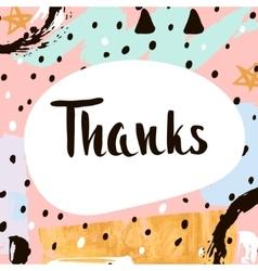Thanks Handwritten unique lettering Creative vector image