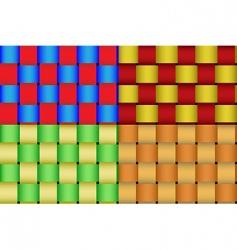 braided ribbon pattern vector image vector image
