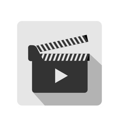 Clapboard flat icon vector image vector image