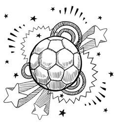 doodle pop soccer football vector image