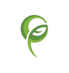 ecology bio leaf abstract logo image vector image vector image
