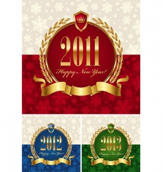 happy new year frame vector image vector image