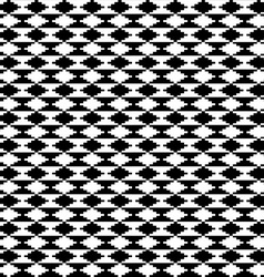 Black and white ethnic motifs carpet vector image
